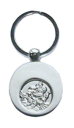 Unbekannt Butzon & Bercker 2-51963 Schlüsselanhänger Christophorus mit Einkaufswagen-Chip auf Backcard mit Geschenkumschlag