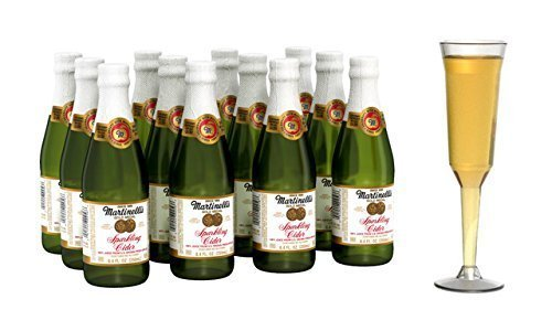 Martinelli's Gold Medal Sparkling Apple Cider, 8.4 oz Pack of 12 Bottles
