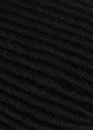 Karabella Aurora Bulky Extrafine Merino – Wool Yarn with Nice, Smooth Finish, Very Soft with Excellent Stitch Definition – Highest Quality and Comes in 30 Beautiful Colors (Black # 1)
