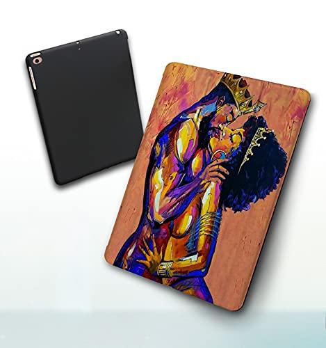 Funda para iPad 9,7 Pulgadas, 2018/2017 Modelo, 6ª / 5ª generación,Amor Negro Pareja Afroamericana Rey Reina Hacer El Amor Smart Leather Stand Cover with Auto Wake/Sleep