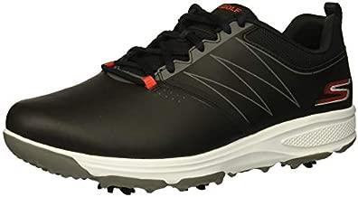 Skechers GO GOLF mens Torque Golf Shoe, Black/Red, 11 US