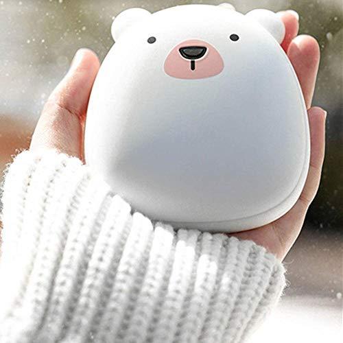 Réchauffeur de Main de Silicone de Dessin animé Mignon créatif de LLSUK Charge, Mini Banque de Puissance Portable 3600mAh, Charge Rapide pour Garder au Chaud en Hiver