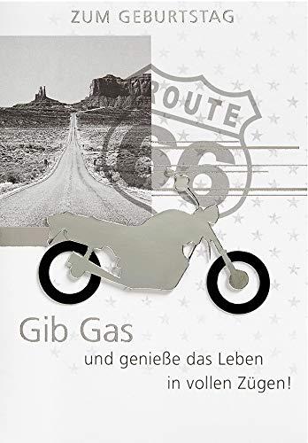 Geburtstagskarte Lifestyle - Motorrad - 11,6 x 16,6 cm