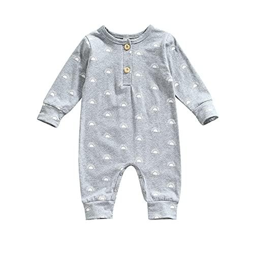 XINGJI Mono de una pieza para bebé con botón para dormir y jugar con dinosaurios, para niña recién nacida, A-gris, 6 mes
