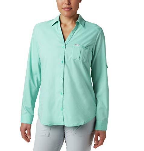 Columbia Camiseta de Manga Larga Armadale™ para Mujer, Mujer, 1832062, Delfín, 3X