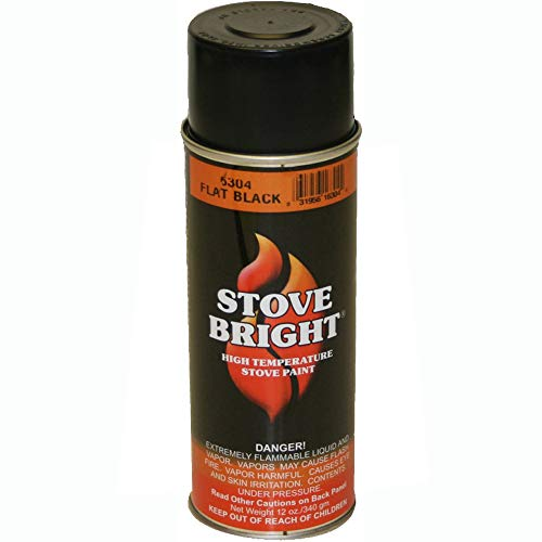 Stove Bright 6304 Stove Bright High Temperature Flat Black Stove Paint