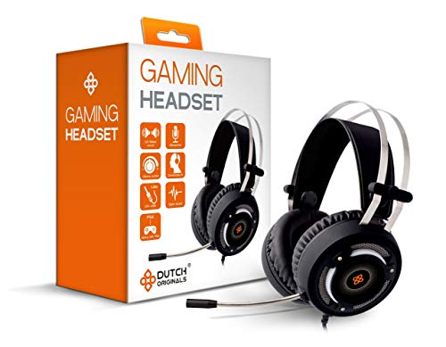DUTCH ORIGINALS Gaming Headset met Microfoon, Gaming Headphones voor PC, Xbox One, PS4, Nintendo Switch, mobiele apparaten, Digitaal Geluid & Stereo Geluid, video game