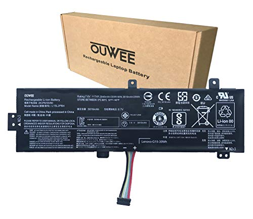 OUWEE L15L2PB4 Laptop Battery Compatible with Lenovo IdeaPad 510-15ISK/15IKB 310-15ABR/15IAP/15IKB/15ISK 310 Touch-15IKB/15ISK Series L15M2PB5 L15M2PB3 L15L2PB5 L15C2PB3 L15C2PB7 7.6V 30Wh 3948mAh