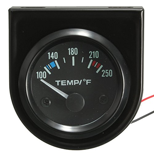 MATCC 2 Inch 52mm 100-250 Degree F Car Auto Water Temperature Gauge Backlight 12V