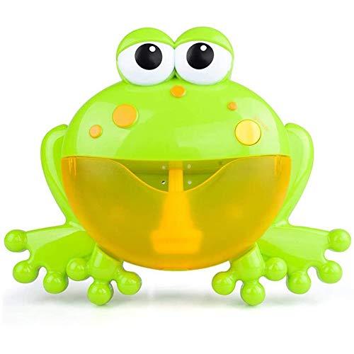 AECOR Baby-Bad-Bubble Machine Big Frog Tub Automatische Blase Spielzeug Blowing Bubbles Mit 12 Musik-Lied Für Kinder Jungen Mädchen Baby Kleinkinder