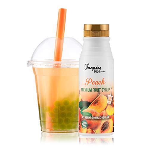 Fruchtsirup für Bubble Tea - 300ml - Pfirsich - Ohne künstliche Farbstoffe - 100% Vegan und Glutenfrei
