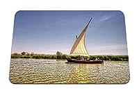 26cmx21cm マウスパッド (バレンシアスペインリバーボート) パターンカスタムの マウスパッド