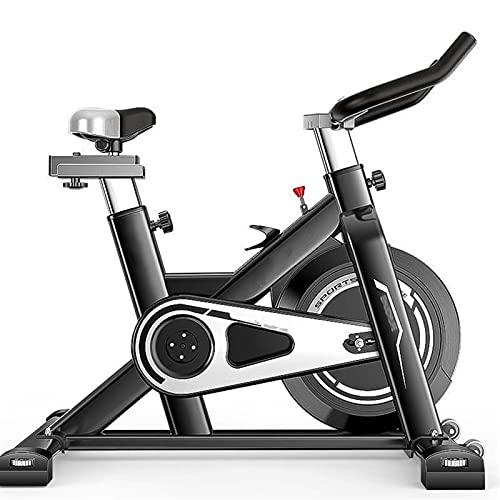 DJDLLZY Bicicletas de spinning bicicletas, ejercicio, de interior ciclismo, ciclismo de interior bicicleta estática, la correa de accionamiento directo 12Kg de volante, resistencia magnética, con un c