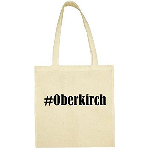 Tasche #Oberkirch Größe 38x42 Farbe Natur Druck Schwarz