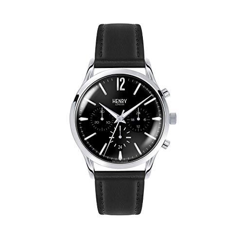 Henry London Orologio Cronografo Quarzo Unisex con Cinturino in Pelle HL41-CS-0023