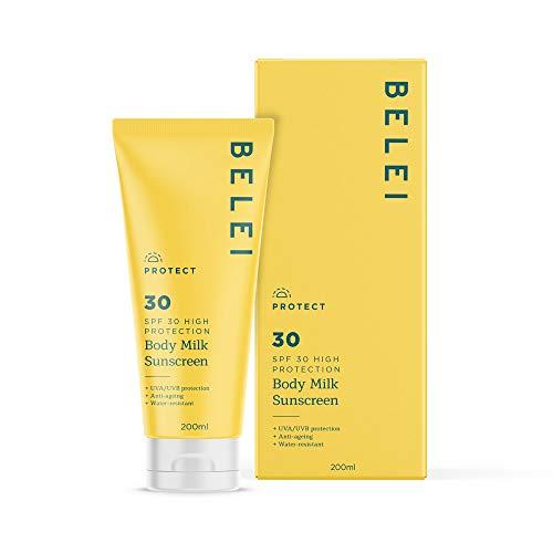 Belei - Body Milk Sunscreen, SPF 30, UVA/UVB, Water Resistant , 200ml