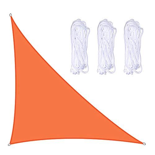 æ— Voile d'ombrage triangulaire imperméable 3 x 4 x 5 m avec 3 cordes, tissu résistant et durable pour jardin, extérieur