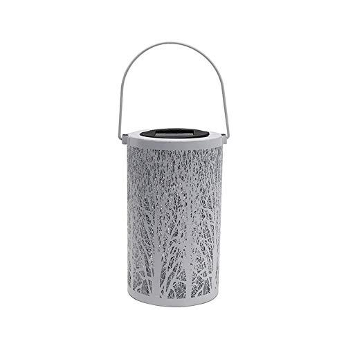 Lámpara de pared a prueba de polvo a prueba de agu Solar al aire libre del hierro labrado linterna lámpara de jardín europea hueco colgante de pared de la proyección del Portable de la hoja de la lámp