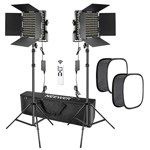 Neewer Kit 2pz Luce 660 LED 2,4G Avanzata con Softbox, Luce Dimmerabile Bicolore con 2,4G...