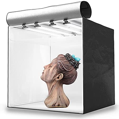 HAVOX - Photo Studio HPB-80XD - Dimension 32'x32'x32' - Super Bright Dimmable LED...