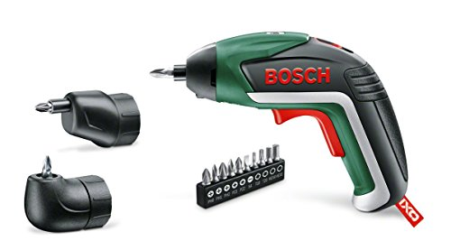 Bosch 3603JA8002 IXO Set Cordless Screwdriver (angle adapter, Off-set angle adapter, 10 screwdriver bits, USB charger, metal case, 3.6 V, 1.5 Ah)