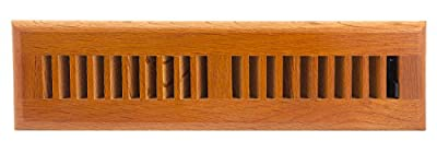 Accord AOFROML412 Floor Register with Oak Louvered, 4-Inch x 12-Inch(Duct Opening Measurements), Medium Finish