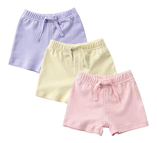 LOOLY Baby Bloomers Unisex Baby Girls Boys Cotton Linen Blend Shorts 80, Blue