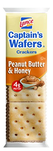 Lance Captain's Wafers Sandwich Crackers, Peanut Butter & Honey, 1.38 Ounce (Pack of 120)