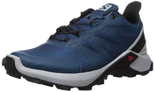 Salomon Men's Supercross Trail Running Shoes, Poseidon/Pearl Blue/Black, 10.5