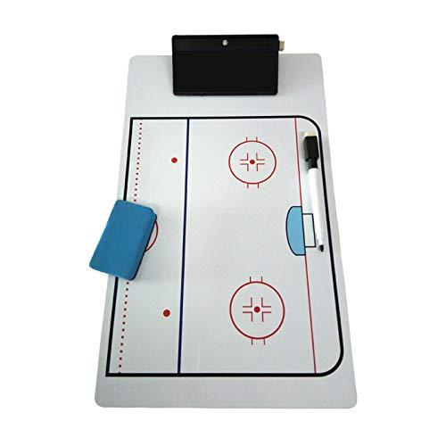 ABCCS Eishockey Taktisch Brett,Taktisches Trainer-Brett,Taktikmappe,Trainer Taktikmappe,Doppelseitiges taktisches Eishockey-Board Coach Board - umschreibbar - leicht zu tragen und wiederzuverwenden