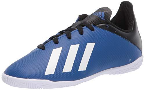 adidas Kids Unisex's X 19.4 Indoor Boots Soccer Shoe, Team Royal Blue/FTWR White/core Black, 2 M US Big Kid