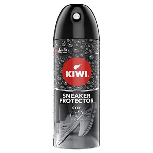 Kiwi Sneaker Care, Spray Impermeabilizzante per Scarpe da Ginnastica, Protegge fino a 14 giorni, adatta per Tutti I Tipi di Materiali, Confezione da 200 ml