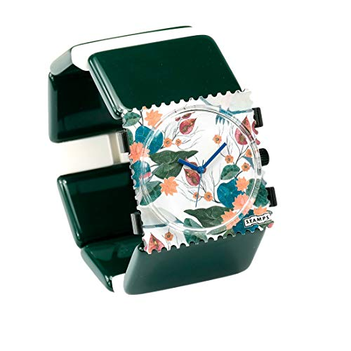 S.T.A.M.P.S. Stamps Uhr KOMPLETT - Zifferblatt Move on mit Belta Ocean Green XXL