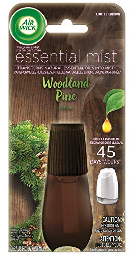 Air Wick Essential Mist, Essential Oil Diffuser Refill, Woodland Pine, Holiday scent, Holiday spray, Air Freshener