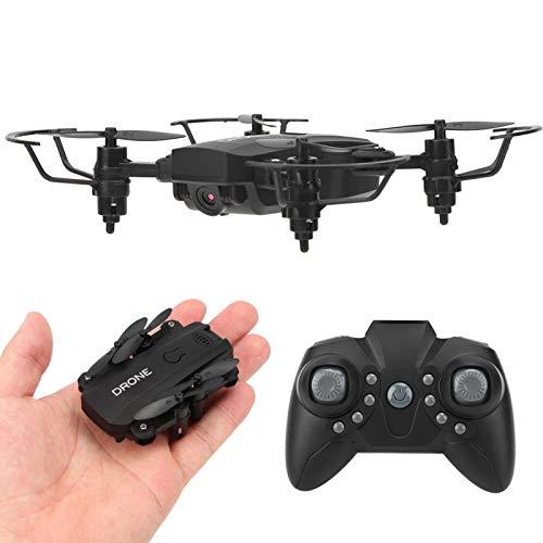 Dron con control remoto, diseño de cámara dual, mini dron plegable controlado por aplicación, lente de zoom, alta sensibilidad, para niños principiantes y expertos