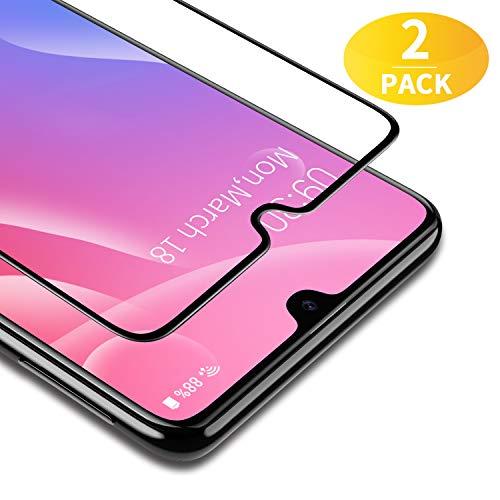 BANNIO [2 Pacco Pellicola Protettiva per Samsung Galaxy A40,Full Screen Pellicola Vetro Temperato,Copertura Completa con Alta Trasparente per Samsung Galaxy A40
