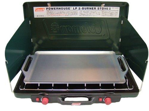 コールマン パワーハウス LP ツーバーナーストーブⅡ 対応 グリルプレート 板厚4.5mm (グリル本体は商品に...