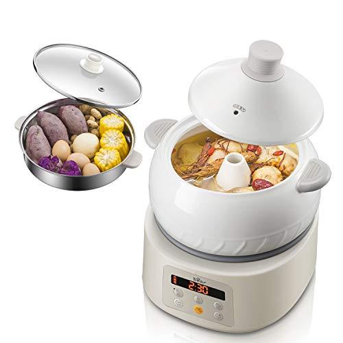 Bear Multi-function Electric Steam Cooker, Yunnan Steam Chicken Soup Steamer Ceramics, DQG-A30C1 New...
