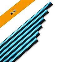 カーインテリア成形は三菱ASXランサー10アウトランダーパジェロスポーツカリスマギャラングランディス用エアベント装飾ラインストリップ (Color : 10pcs Blue)