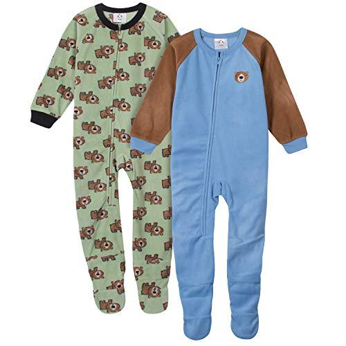 Gerber Baby Boys' 2-Pack Blanket Sleeper, Bear Green Toddler, 4T