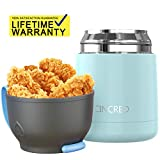 Vacuum Insulated Stainless Steel Food Jar,Portable Soup Thermos, Hot or Cold Food Jar (Blue)