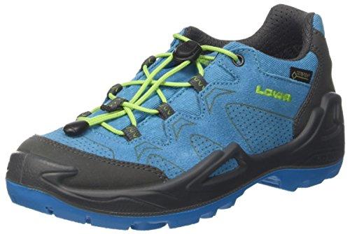 Lowa Jungen Unisex-Kinder Diego GTX Lo Trekking-& Wanderstiefel, Blau (Blue/Limone 6003), 28 EU