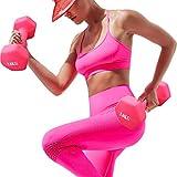 LATIBELL Girl Pink Dumbbells Home Fitness Exercise Child Sports Equipment Handles Arm Dumbbells Boy Exercise Ladies Fitness Equipment Dumbbell (Random Color, 0.5kg2pcs)