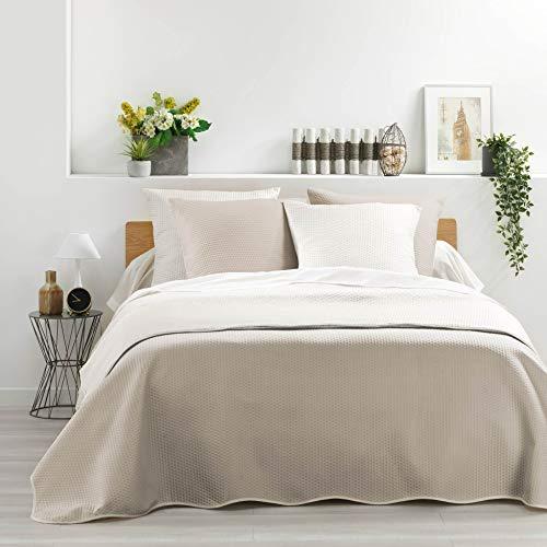 Täcke för dubbelsäng, sängöverkast, 60 x 60 cm, antracit, 220 x 240 cm, lin, 240 x 260 cm