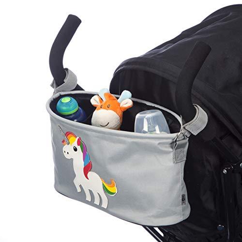 Organiseur/Organisateur/Panier de rangement gris BTR pour poussette ou landau - Adorables motifs dinosaure, licorne ou girafe