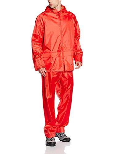 Résultat épais Veste imperméable à Manches Longues Ensemble Veste et Pantalon Imperméable pour Homme - Rouge - X-Large