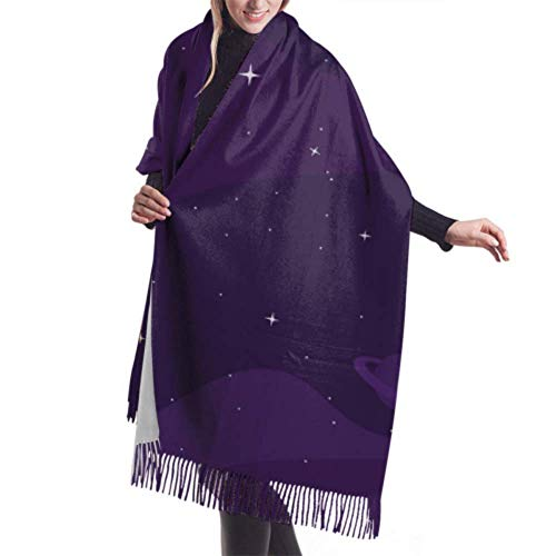 Hangdachang 27'x77' Lightweight Cashmere Scarf Beautiful Circular Circle Womens Shawl Wrap Scarfs For Women Lightweight Stylish Large Warm Blanket