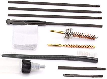 XBF-HUNT, 10 Unids Set Kit de Limpieza Varilla de Limpieza Cepillo de Nylon para .22 22LR .223 556 Pistola Rifle para Airsoft Deporte Caza Herramientas de Limpieza
