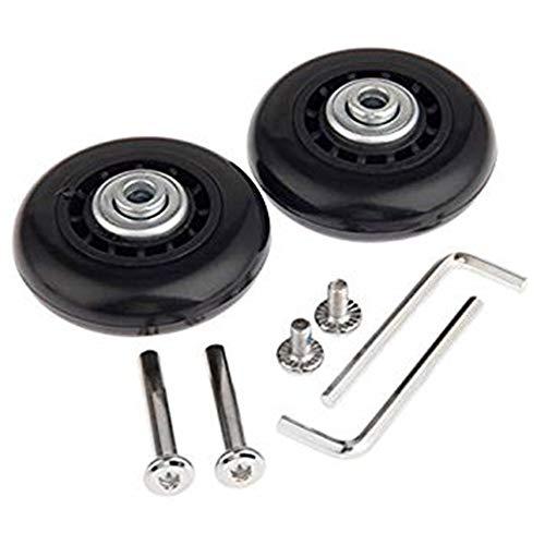 Yoodeet Black Luggage Suitcase / Inline-Ersatzräder für Outdoor-Skates mit ABEC 608zz-Lagern (60 × 18 mm)
