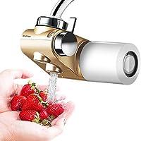 WinArrow- Filtro de Agua Para Grifo, Filtro de Agua Actualizado con KDF55 Filtro de Cerámica de Alta Precisión Eliminar el Cloro para Cocina y Baño